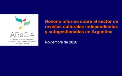Noveno informe sobre el sector de revistas culturales independientes y autogestionadas en Argentina
